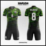 Desain Jersey Bola Futsal Full Print Warna Hijau Hitam Super Keren