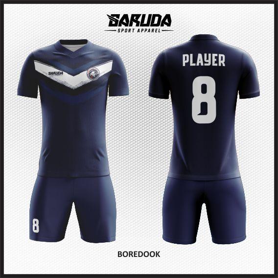 Desain Jersey Futsal Printing Warna Biru Simple Tapi Berkelas