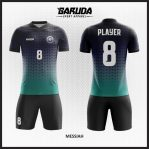 Desain Jersey Futsal Warna Hitam Biru Terkini