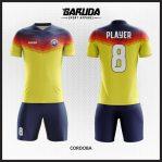 Desain Jersey Sepakbola Warna Kuning Biru Simple Tapi Trendy