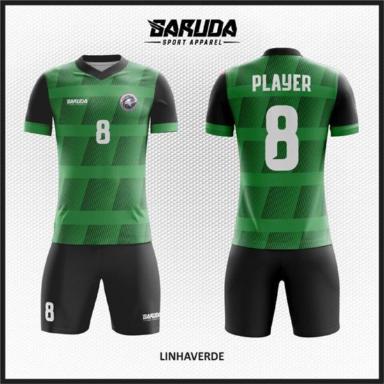 Desain Kaos Futsal Warna Hijau Hitam Keren Dan Gagah