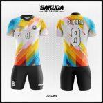 Desain Kostum Sepakbola Motif Gradasi Warna Cerah Terbaik