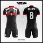 Desain Kostum Sepakbola Warna Hitam Untuk Sang Juara