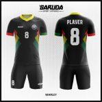 Desain Seragam Futsal Warna Hitam Tampil Minimalis