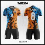 Desain Baju Bola Futsal Motif Bergelombang Sangat Artistik