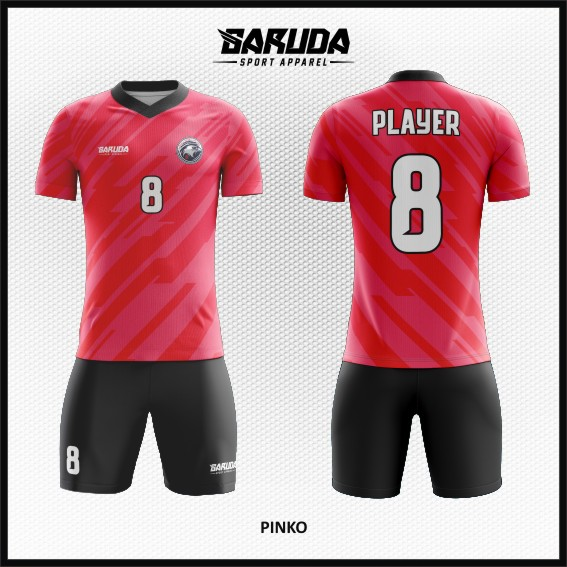 Desain Baju Futsal Warna Pink Beda Dari Yang Lain