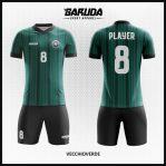 Desain Jersey Bola Futsal Warna Hijau Dongker Minimalis