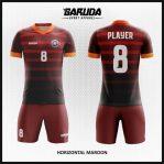 Desain Jersey Futsal Warna Merah Maroon Bergaya Millenial