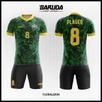 Desain Jersey Sepakbola Motif Bunga Warna Hijau Tampil Lebih Fresh
