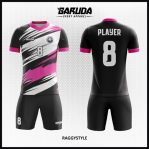 Desain Kaos Futsal Warna Hitam Putih Pink Bikin Lawan Terkejut