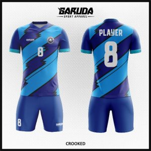 Desain Kostum Futsal Warna Biru Berkesan Vintage