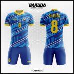 Desain Kostum Futsal Warna Biru Terbaru Paling Bagus